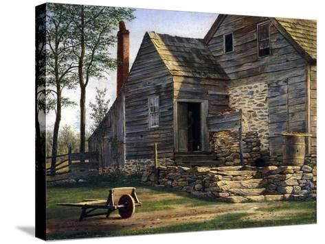 A Long Island Homestead-William M Davis-Stretched Canvas Print