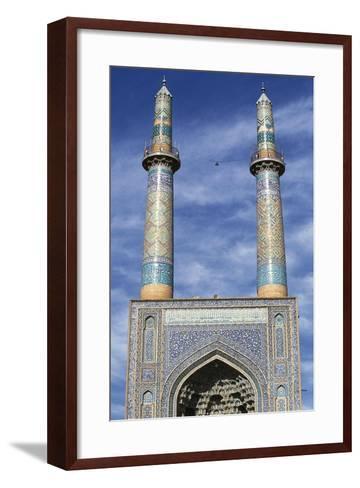 Entrance and Minarets of Jameh Mosque of Yazd--Framed Art Print