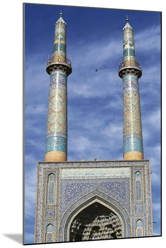 Entrance and Minarets of Jameh Mosque of Yazd--Mounted Giclee Print
