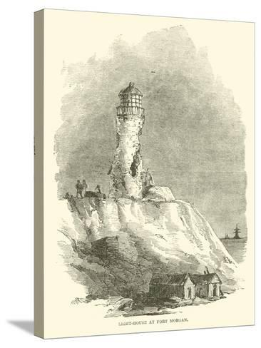 Light-House at Fort Morgan, August 1864--Stretched Canvas Print