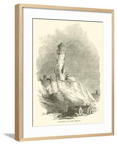 Light-House at Fort Morgan, August 1864--Framed Art Print