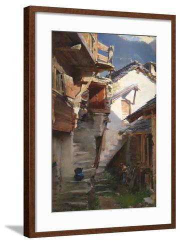 In the Rhone Valley, 1896-Henry Woods-Framed Art Print