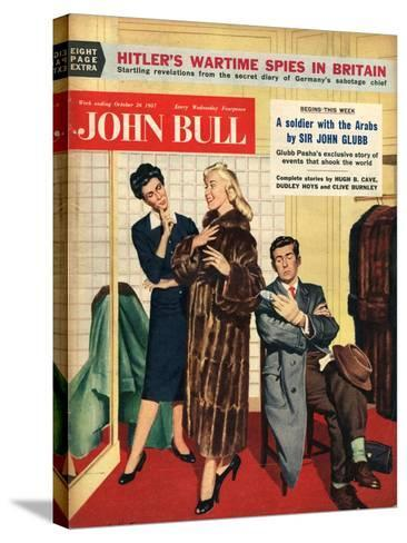 Front Cover of 'John Bull', October 1957--Stretched Canvas Print