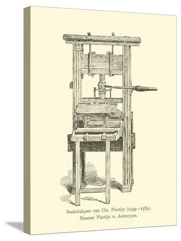 Printing Press of Christophe Plantin--Stretched Canvas Print