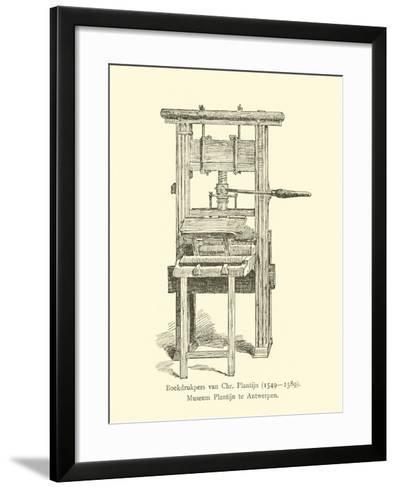 Printing Press of Christophe Plantin--Framed Art Print