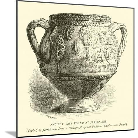Ancient Vase Found at Jerusalem--Mounted Giclee Print
