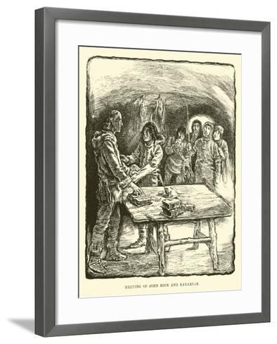 Meeting of John Beck and Kayarnak--Framed Art Print