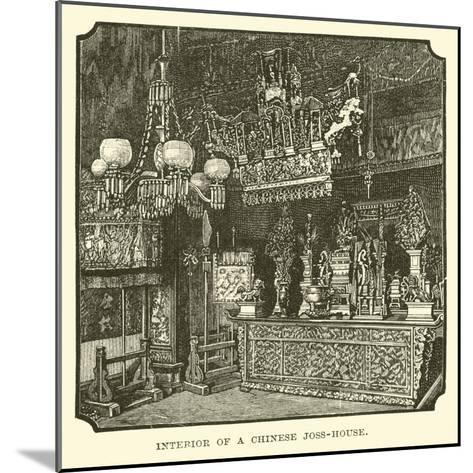 Interior of a Chinese Joss-House--Mounted Giclee Print