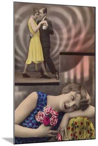 A Young Woman Daydreams About Dancing with a Man--Mounted Photographic Print
