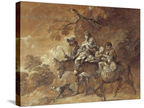 Peasants Going to Market, 1770-74-Thomas Gainsborough-Stretched Canvas Print