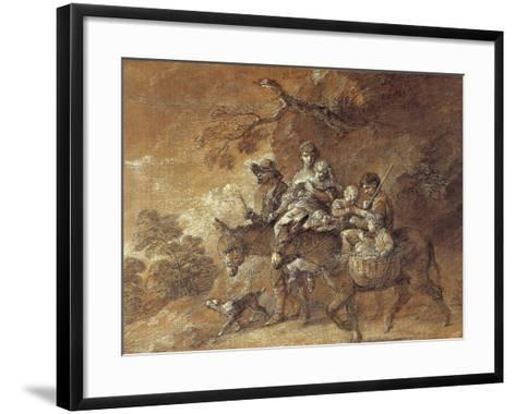 Peasants Going to Market, 1770-74-Thomas Gainsborough-Framed Art Print