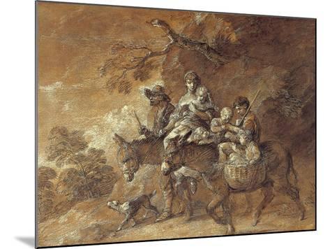 Peasants Going to Market, 1770-74-Thomas Gainsborough-Mounted Giclee Print