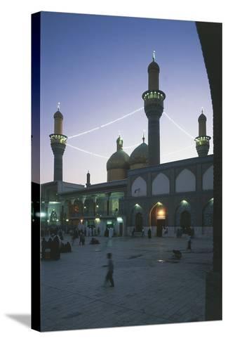 Al-K?Dhimiya Mosque at Night, Baghdad--Stretched Canvas Print