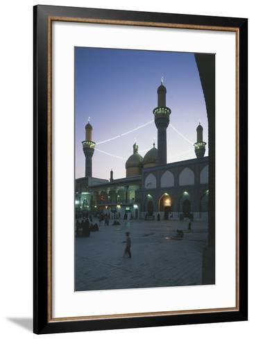 Al-K?Dhimiya Mosque at Night, Baghdad--Framed Art Print