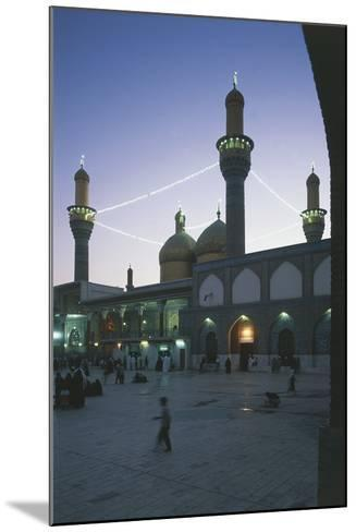 Al-K?Dhimiya Mosque at Night, Baghdad--Mounted Photographic Print