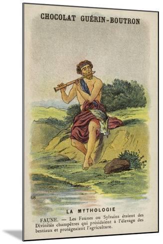 Faun--Mounted Giclee Print