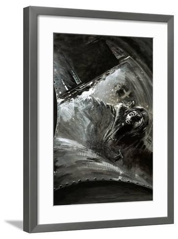 Leaking Fuel Saturates an Aircraft--Framed Art Print