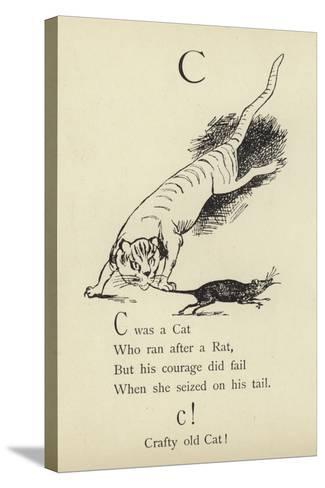 The Letter C-Edward Lear-Stretched Canvas Print