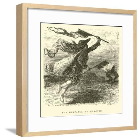 The Huyfalla, or Man-Bird-?douard Riou-Framed Art Print