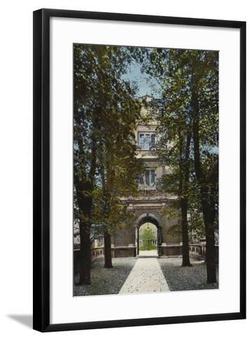 Gonville and Caius College, Gate of Virtue--Framed Art Print
