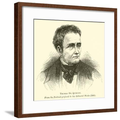 Thomas De Quincey--Framed Art Print