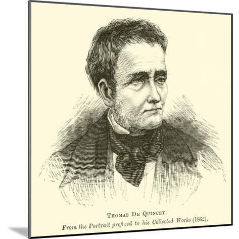 Thomas De Quincey--Mounted Giclee Print