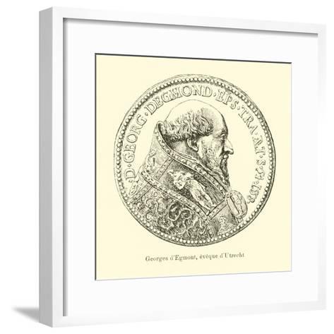 George Van Egmond, Bishop of Utrecht--Framed Art Print