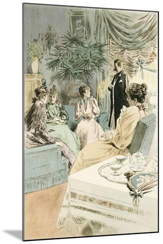 Tea at Five, 1894-Pierre Vidal-Mounted Giclee Print