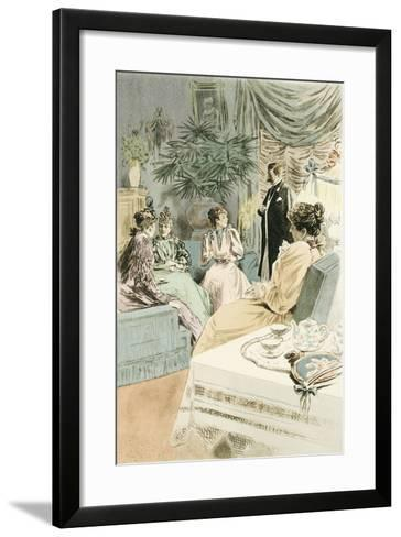 Tea at Five, 1894-Pierre Vidal-Framed Art Print