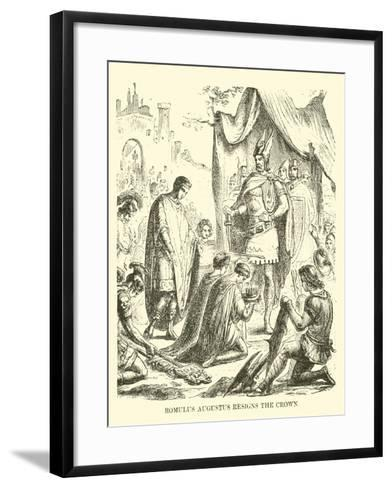 Romulus Augustus Resigns the Crown--Framed Art Print
