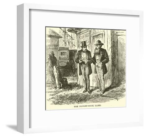 The Pocket-Book Game--Framed Art Print
