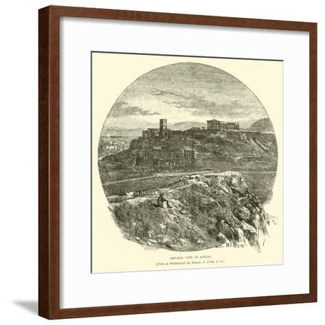 General View of Athens--Framed Art Print