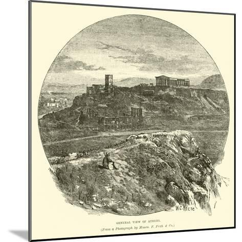 General View of Athens--Mounted Giclee Print
