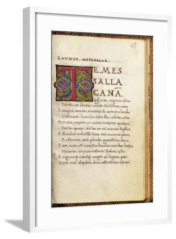 Poems--Framed Art Print