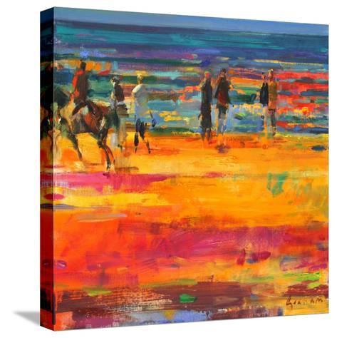 The Canter, Paris Plage-Peter Graham-Stretched Canvas Print