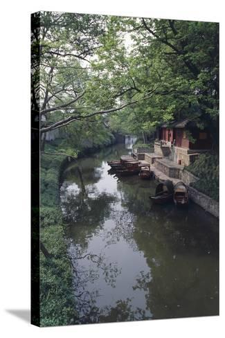 China, Jiangsu, Suzhou Master of Nets Garden--Stretched Canvas Print
