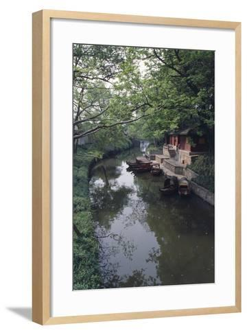 China, Jiangsu, Suzhou Master of Nets Garden--Framed Art Print