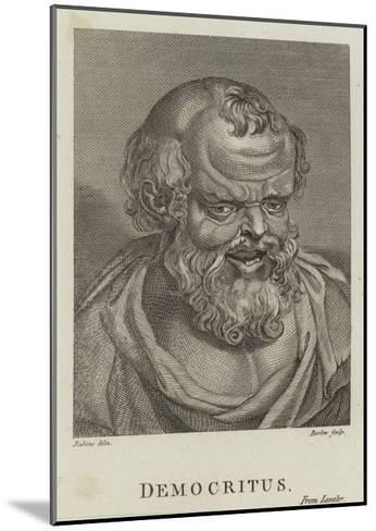 Democritus-Peter Paul Rubens-Mounted Giclee Print