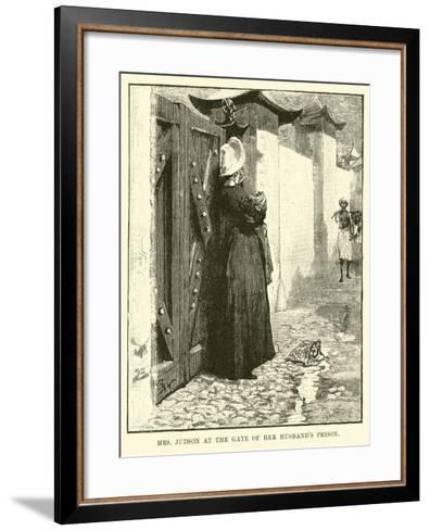 Mrs Judson at the Gate of Her Husband's Prison--Framed Art Print