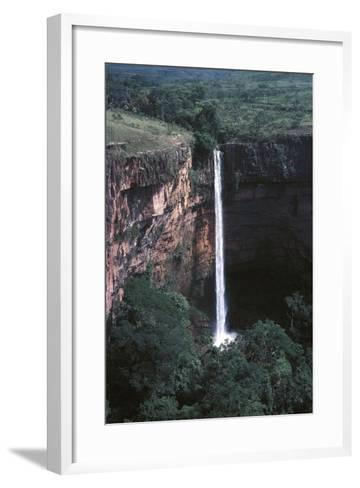 Veu De Noiva Waterfall--Framed Art Print