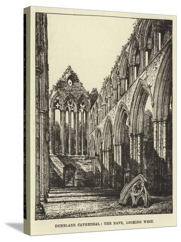 Dunblane Cathedral, the Nave, Looking West--Stretched Canvas Print