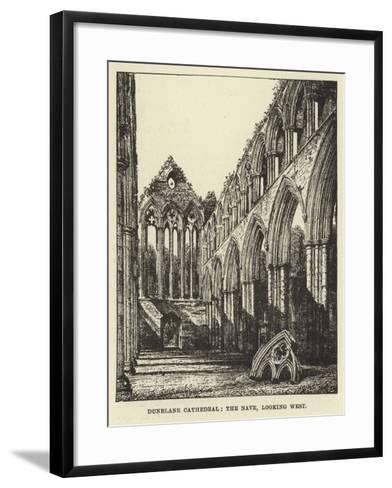 Dunblane Cathedral, the Nave, Looking West--Framed Art Print