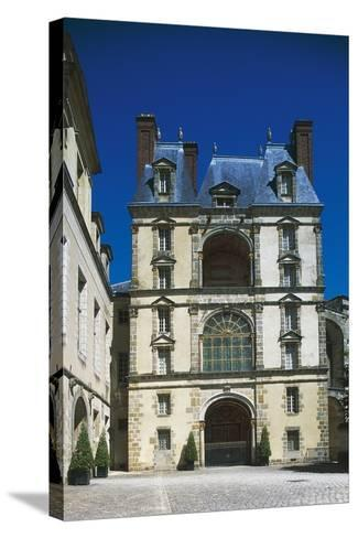 Palace of Fontainebleau--Stretched Canvas Print