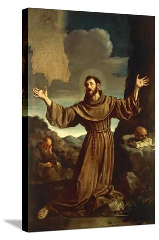 St. Francis of Assisi Receiving the Stigmata--Stretched Canvas Print