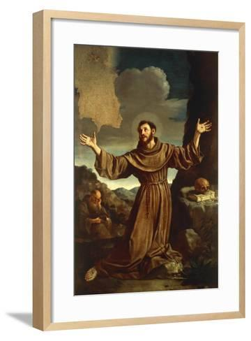 St. Francis of Assisi Receiving the Stigmata--Framed Art Print