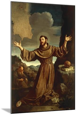 St. Francis of Assisi Receiving the Stigmata--Mounted Giclee Print