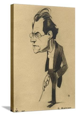 Caricature of Gustav Mahler--Stretched Canvas Print
