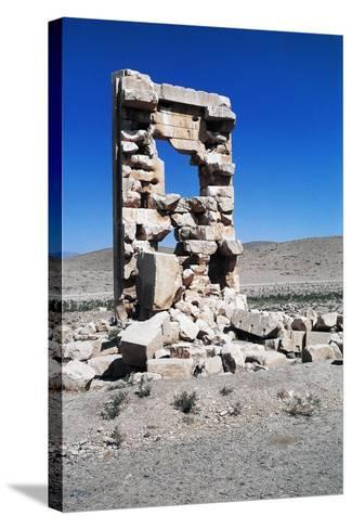 Ruins of the Archaeological Site of Pasargad--Stretched Canvas Print