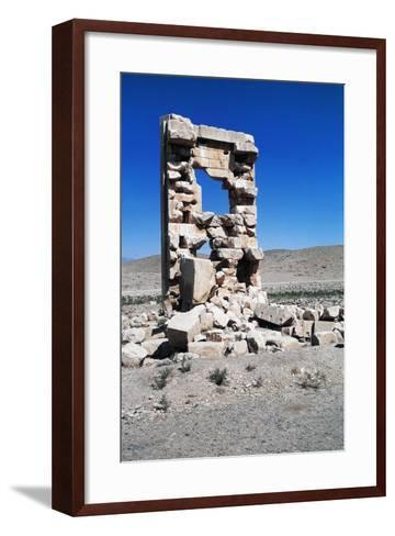 Ruins of the Archaeological Site of Pasargad--Framed Art Print