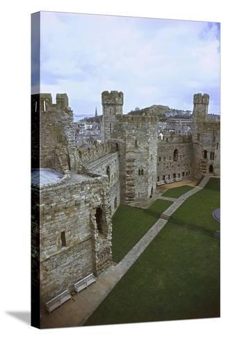 UK, Wales, Caernarfon Castle--Stretched Canvas Print